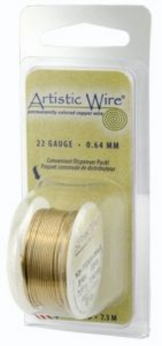Artistic Wire 26g Non-Tarnish Brass
