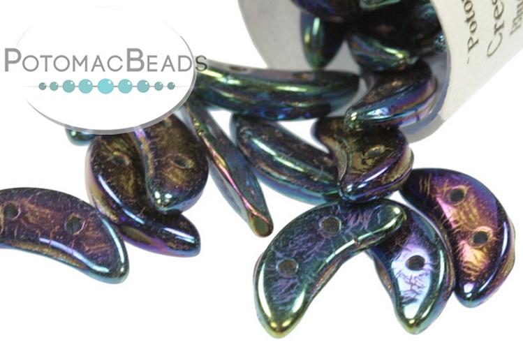 Crescent Beads - Blue Iris 3x10mm