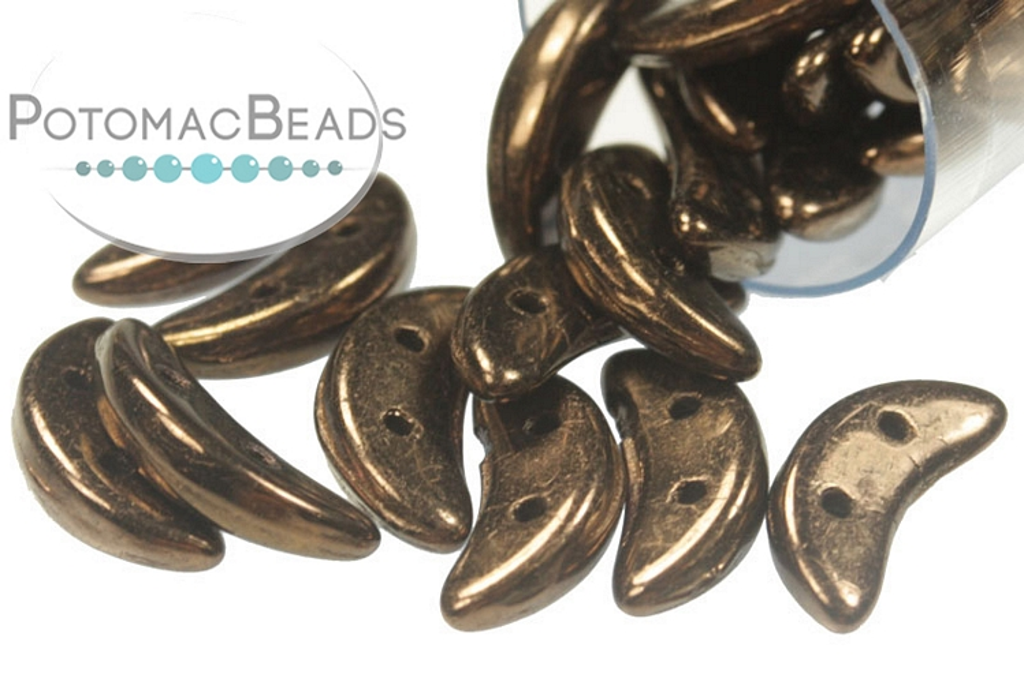 Crescent Beads - Dark Bronze 3x10mm