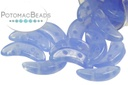 Crescent Beads - Milky Sapphire 3x10mm