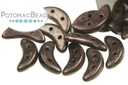 Crescent Beads - Dark Plum Metallic Suede 3x10mm