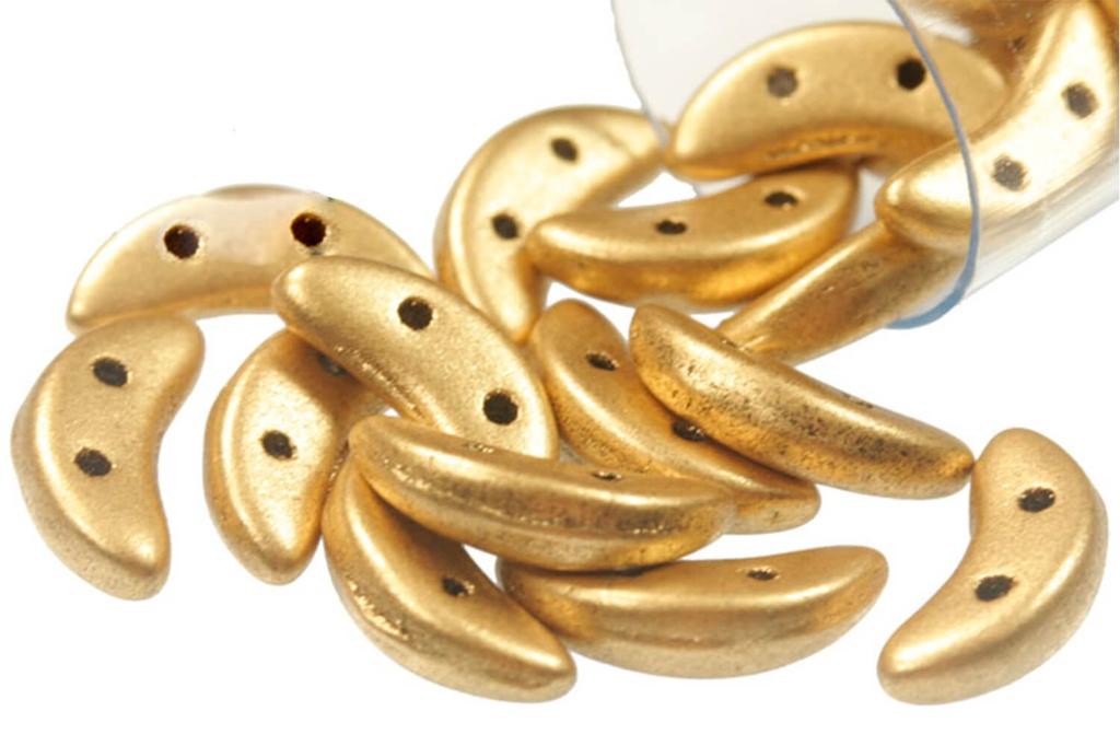 Crescent Beads - Metallic Flax (Aztec Gold) 3x10mm