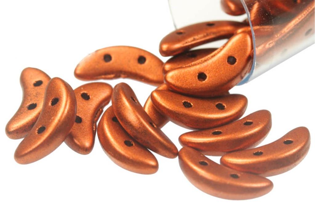 Crescent Beads - Metallic Antique Copper 3x10mm