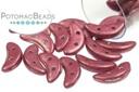 Crescent Beads - Metallic Cranberry 3x10mm