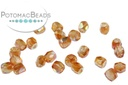 Czech Faceted Round Beads - Crystal Orange Rainbow 2mm