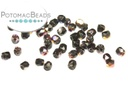 Czech Faceted Round Beads - Jet Sliperit 2mm