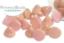 Button Bead - White Lila Luster 4mm