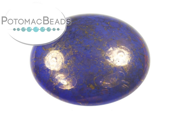 Czech Cabochon - Lapis Luminous 18mm