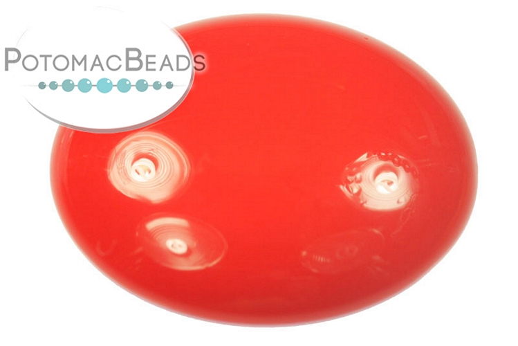 Czech Cabochon - Red Coral 24mm