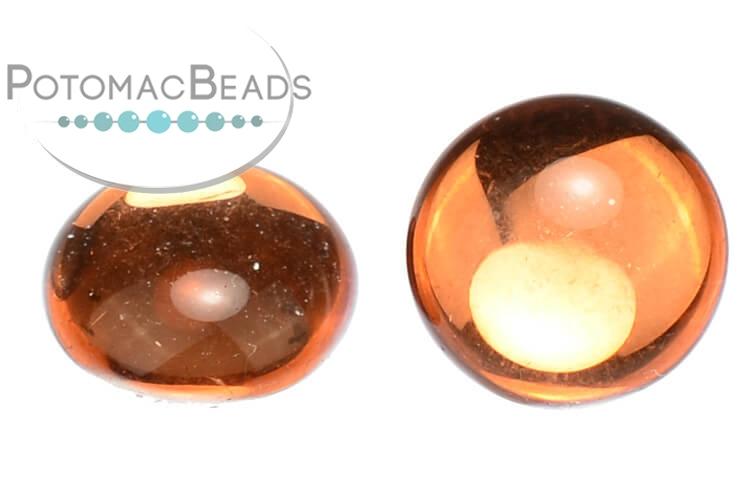 Czech Cabochon - Backlit Peach 18mm