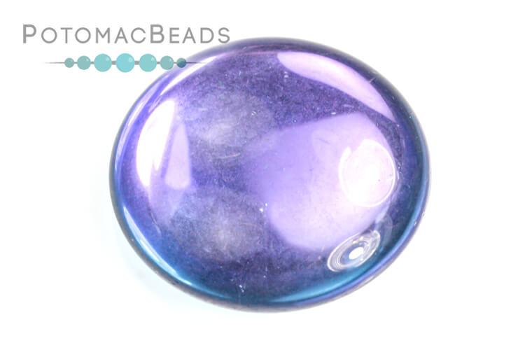 Czech Cabochon - Backlit Violet Ice 25mm