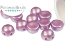 2-Hole Cabochon Beads 6mm - Pastel Lilac