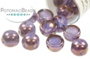 2-Hole Cabochon Beads 6mm - Crystal Lila Vega Luster