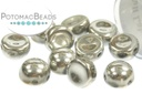 2-Hole Cabochon Beads 6mm - Crystal Full Labrador