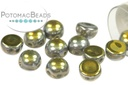 2-Hole Cabochon Beads 6mm - Crystal Full Marea