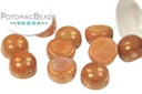 2-Hole Cabochon Beads 6mm - White Roman Rose
