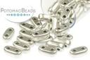 2-Hole Bar Beads - Aluminum Silver 2x6mm
