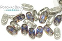 2-Hole Bar Beads - Crystal Volcano (Closeout)