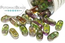 2-Hole Bar Beads - Crystal Magic Orchid 2x6mm