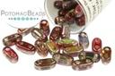 2-Hole Bar Beads - Crystal Magic Wine 2x6mm
