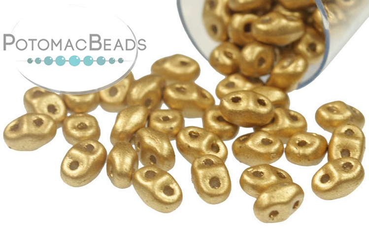 MiniDuo - Aztec Gold (Crystal Bronze Pale Gold) 2x4mm