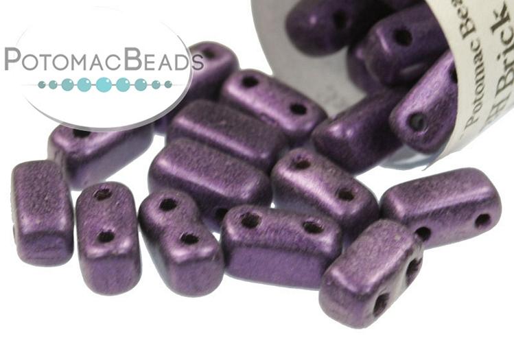 2-Hole Brick - Purple Metallic Suede