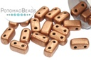2-Hole Brick - Metallic Copper (Matte)