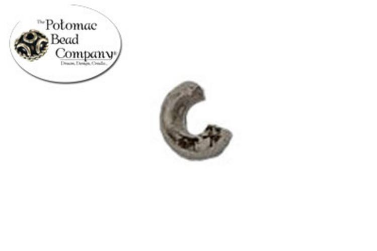 Crimp Covers 3mm Antique Silver
