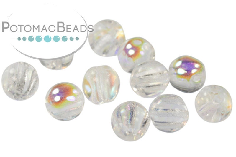RounTrio Beads - Crystal AB (Factory Pack) 6mm