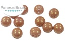RounTrio Beads - White Red Luster (Factory Pack) 6mm