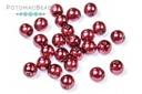 Czech Pearls - Dark Magenta Shiny 3mm