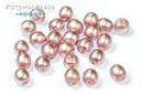 Czech Pearls - Antique Pink Satin Matted 3mm