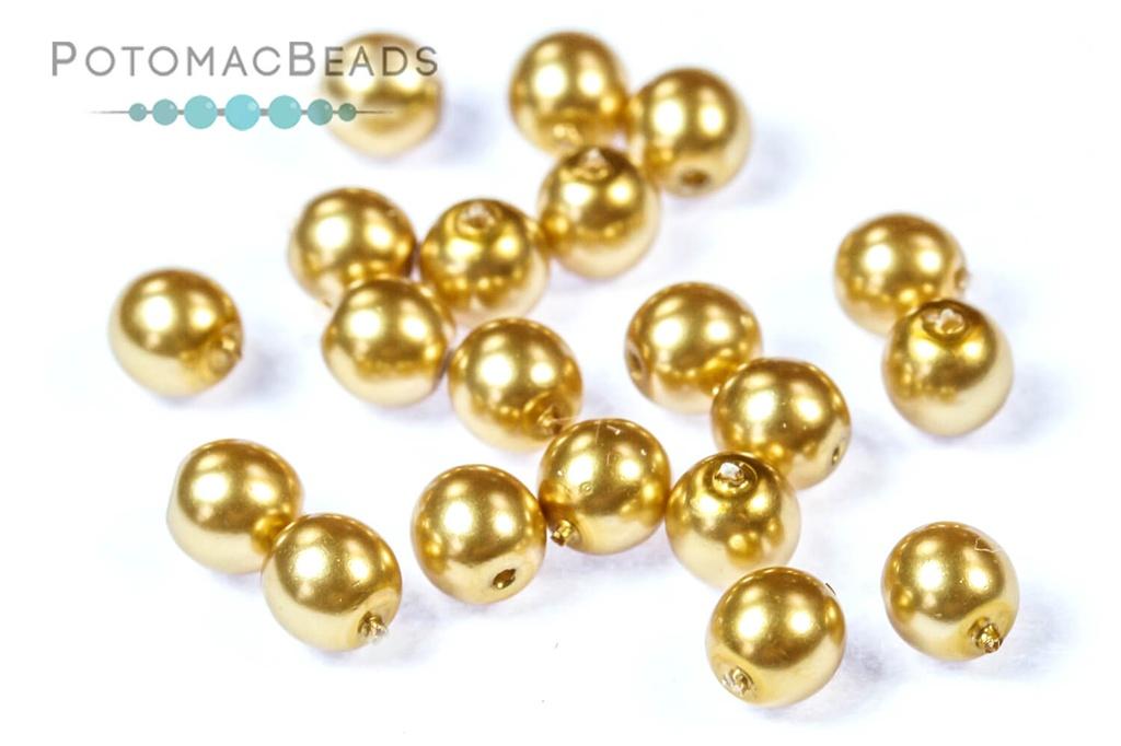 Czech Pearls - Light Gold Shiny 4mm