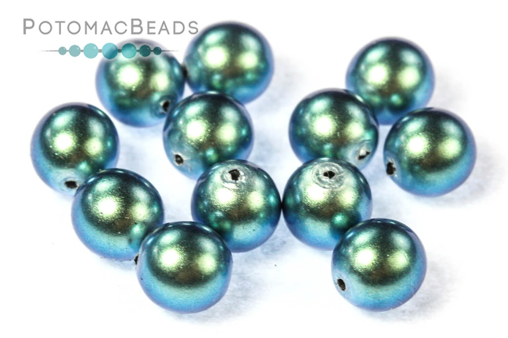 Czech Pearls - Moonstone Blue Shiny 6mm