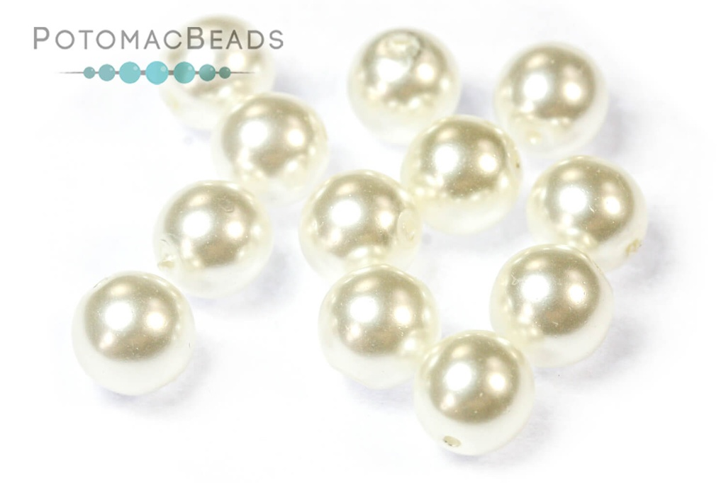 Czech Pearls - Bright White Shiny 6mm