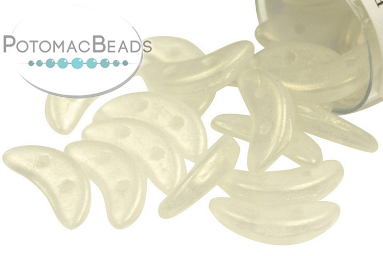 Crescent Beads - Crystal Sueded Gold 3x10mm