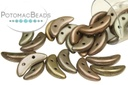Crescent Beads - Matte Metallic Leather 3x10mm
