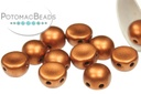 2-Hole Cabochon Beads 6mm - Copper