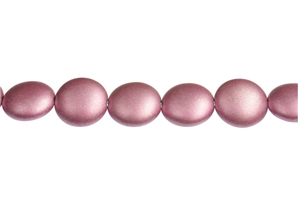 Cushion Beads - Metallic Magenta 14mm