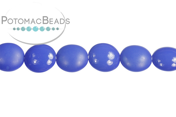 Cushion Beads - Color Trends Pop Indigo 14mm