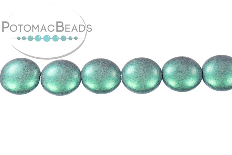 Cushion Beads - Metallic Turquoise