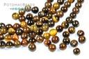 Gemstones - Tigereye Round Beads 4mm