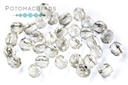 Czech Faceted Round Beads - Crystal 3mm