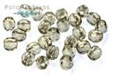 Czech Faceted Round Beads - Black Diamond 3mm