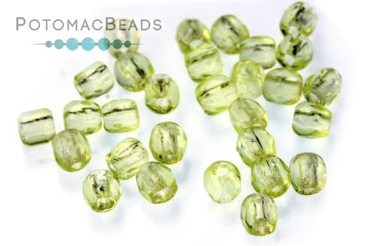 Czech Faceted Round Beads - Jonquil 3mm