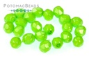 Czech Faceted Round Beads - Happy Lime 4mm