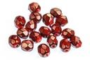 Czech Faceted Round Beads - Snake Garnet 4mm