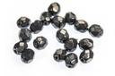 Czech Faceted Round Beads - Snake Montana 4mm