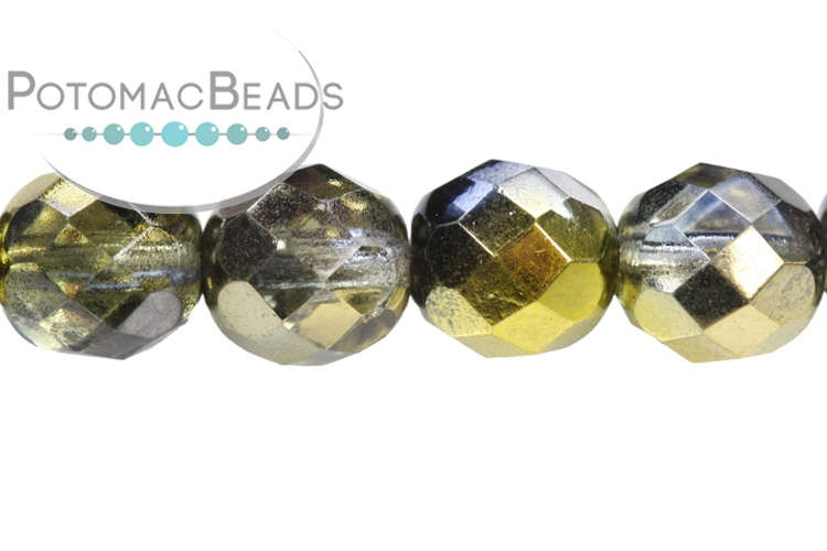 Czech Faceted Round Beads - Sunny Magic Night 8mm