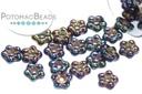 Czech Daisy Beads - Blue Iris 5mm